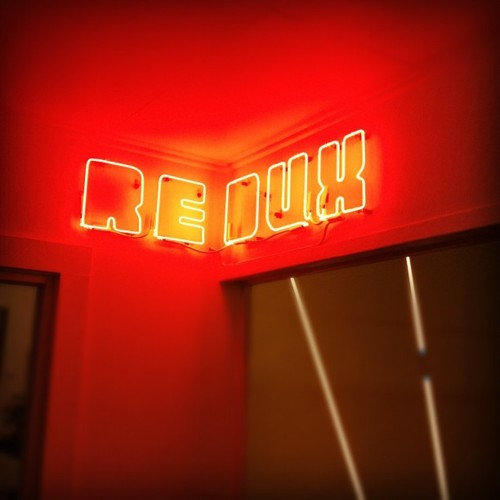 Redux neon sign by Keith Lemley; photo by Redux Studio Artist: Lindsay Windham