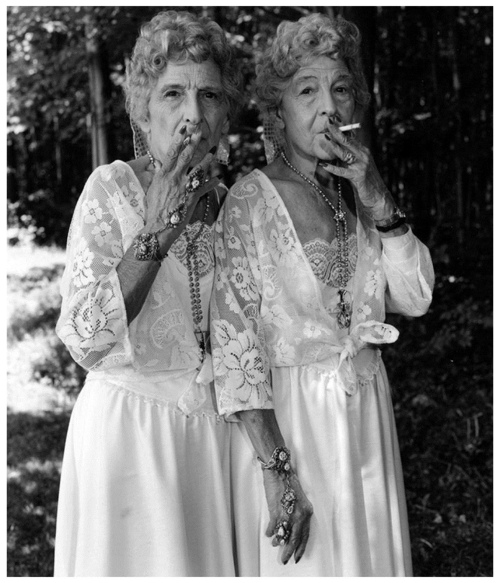 """Sue Gallo Baugher and Faye Gallo"", Twinsburg, Ohio, by Mary Ellen Mark, 1998"