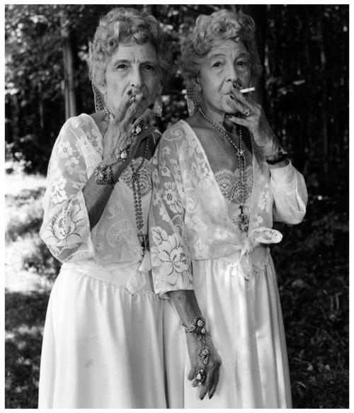 """""""Sue Gallo Baugher and Faye Gallo"""", Twinsburg, Ohio, by Mary Ellen Mark, 1998"""